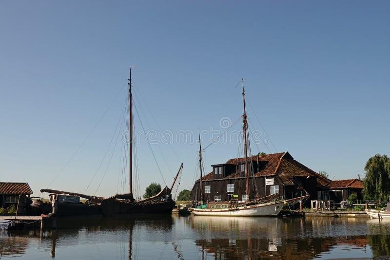 Λιμάνι Warten στη Φρεισία στις Κάτω Χώρες στοκ εικόνες με δικαίωμα ελεύθερης χρήσης