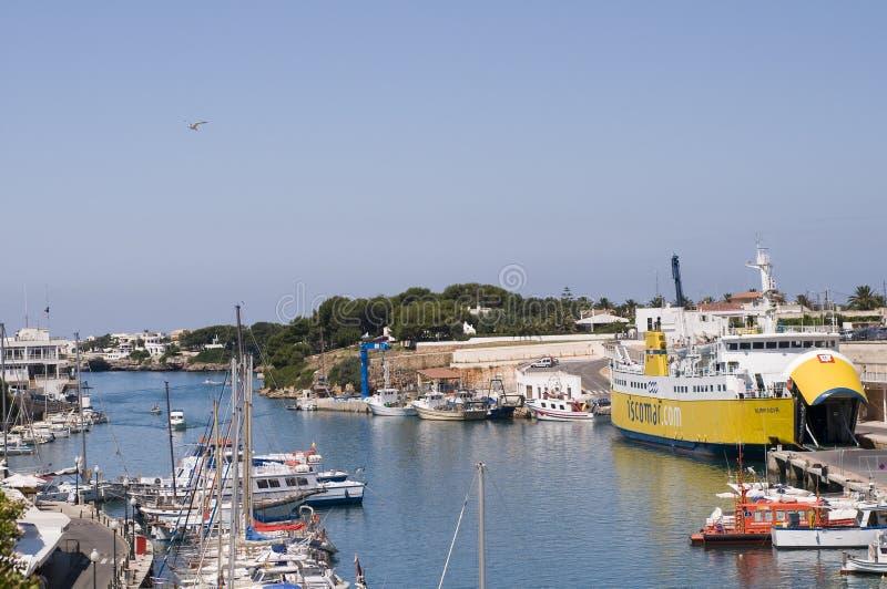 λιμένας Ισπανία menorca ciutadella στοκ εικόνες
