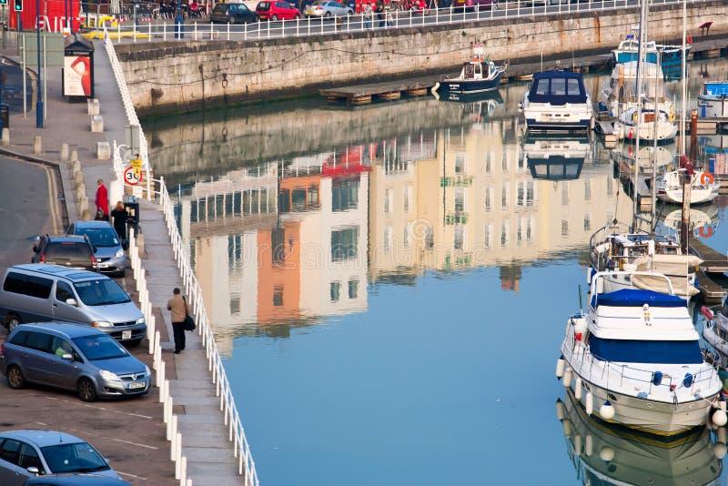 Λιμένας πόλεων στο UK στοκ φωτογραφία με δικαίωμα ελεύθερης χρήσης