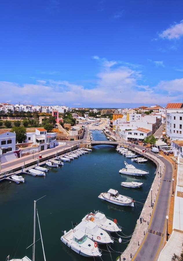 Λιμένας σε Ciutadella σε Minorca στοκ εικόνες