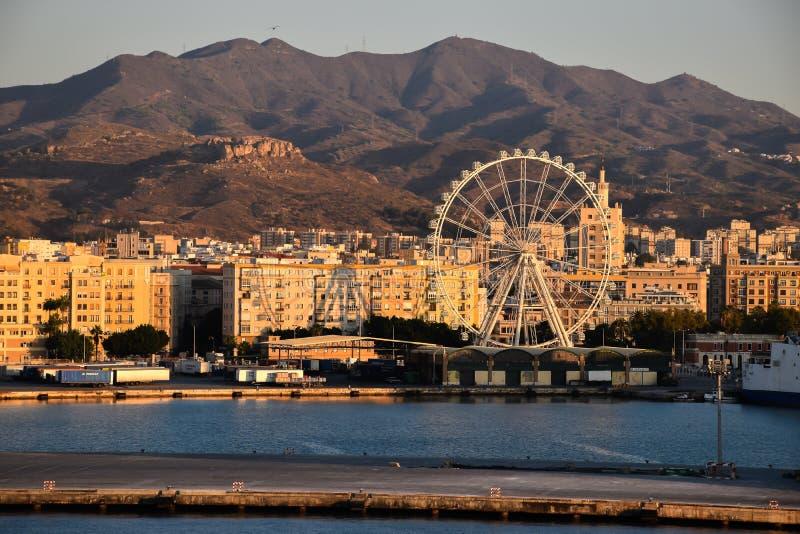 Λιμένας της Μάλαγας, Ισπανία στοκ εικόνα