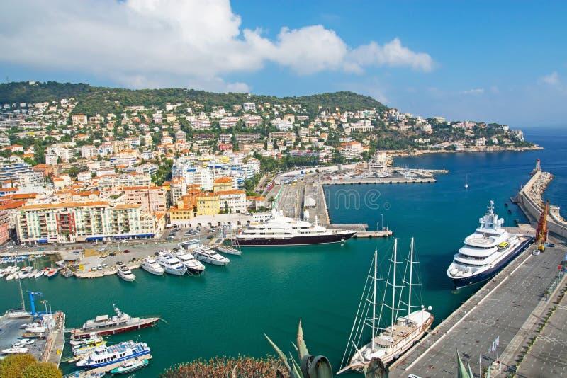 Λιμένας της Νίκαιας, υπόστεγο δ Azur στοκ φωτογραφία με δικαίωμα ελεύθερης χρήσης