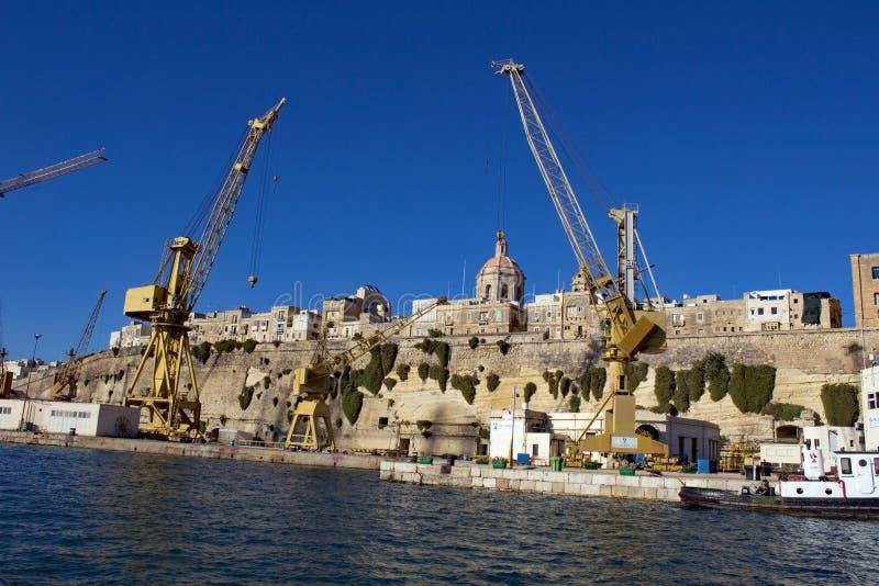 Λιμένας του Λα Valletta Μάλτα στοκ εικόνα
