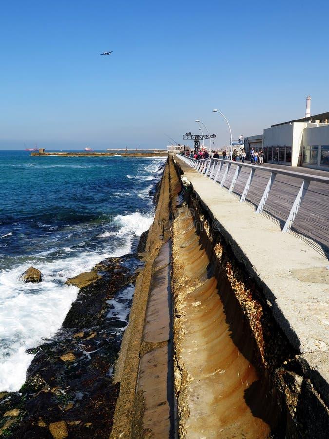 Λιμένας του Τελ Αβίβ στοκ εικόνα με δικαίωμα ελεύθερης χρήσης