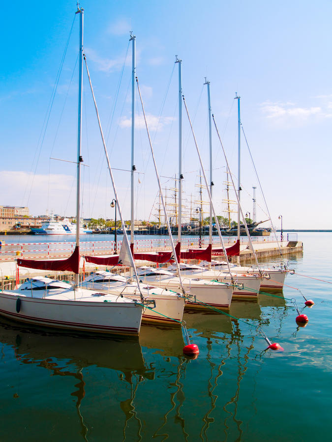 λιμένας του Gdynia Πολωνία πόλ&epsil στοκ εικόνα
