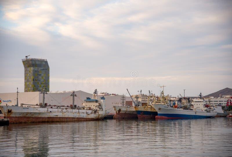 Λιμένας του Las Palmas, καναρίνι Gran στοκ φωτογραφία με δικαίωμα ελεύθερης χρήσης