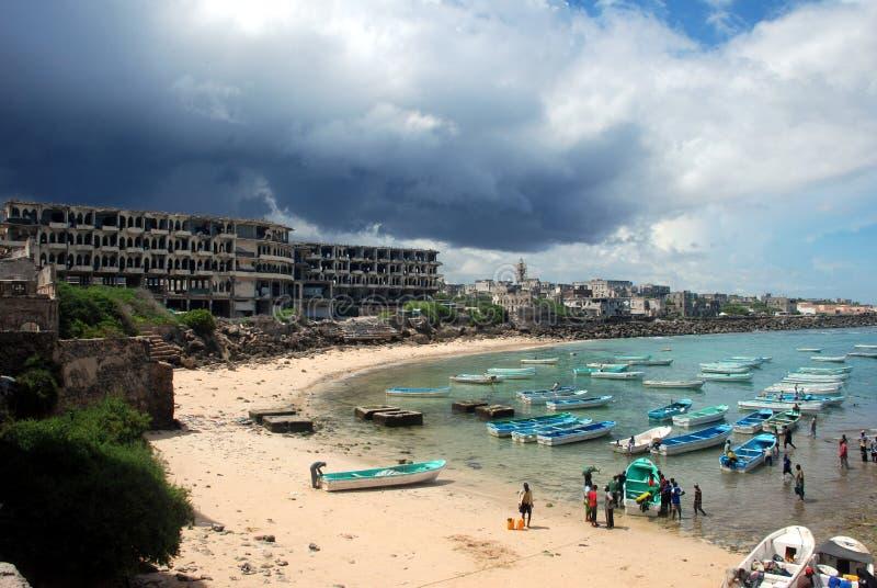 Λιμένας του Mogadishu στοκ εικόνα με δικαίωμα ελεύθερης χρήσης
