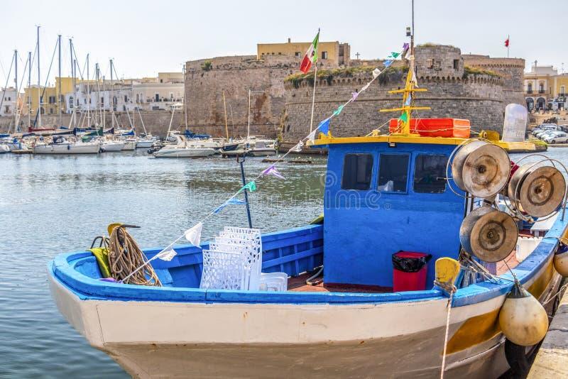 Λιμένας Gallipoli, επαρχία Lecce, Apulia, Ιταλία στοκ εικόνα