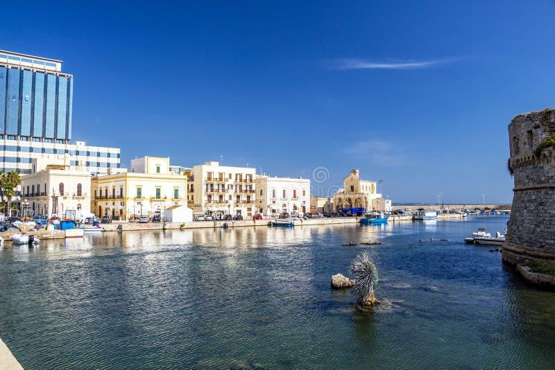 Λιμένας Gallipoli, επαρχία Lecce, Apulia, Ιταλία στοκ φωτογραφία με δικαίωμα ελεύθερης χρήσης