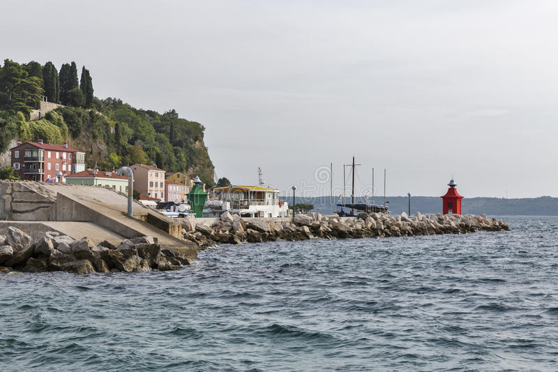 Λιμένας Piran Μεσόγειος, Σλοβενία στοκ φωτογραφία με δικαίωμα ελεύθερης χρήσης