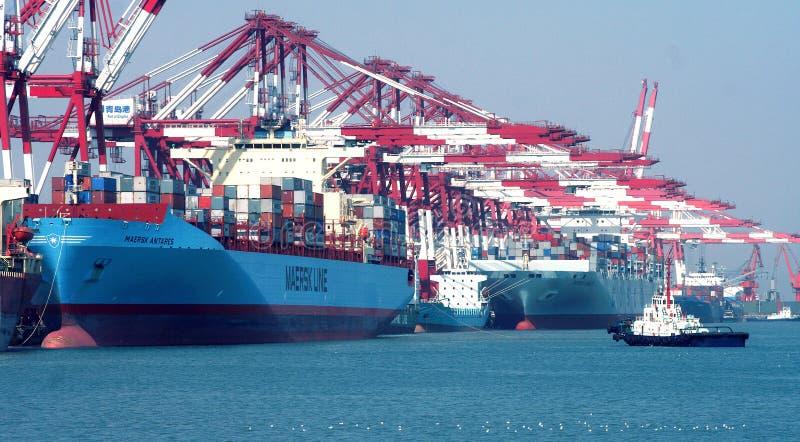 Λιμένας Qingdao στοκ εικόνα με δικαίωμα ελεύθερης χρήσης