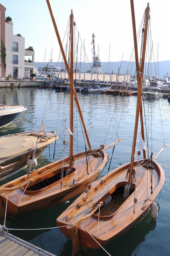 Λιμένας Tivat, Μαυροβούνιο στοκ εικόνα με δικαίωμα ελεύθερης χρήσης