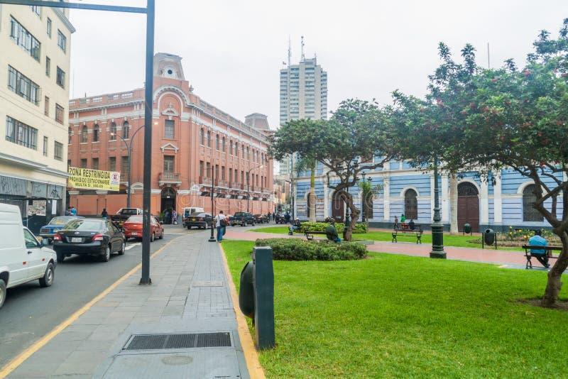 ΛΙΜΑ, ΠΕΡΟΥ - 4 ΙΟΥΝΊΟΥ 2015: Πλατεία Francia Plaza στη Λίμα, pe στοκ εικόνες