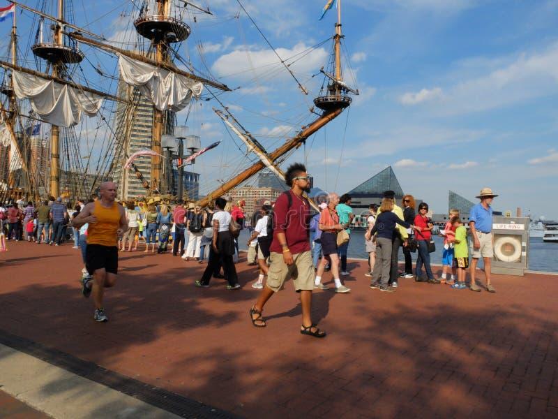 Λιμενικά ψηλά σκάφη της Βαλτιμόρης στοκ εικόνες