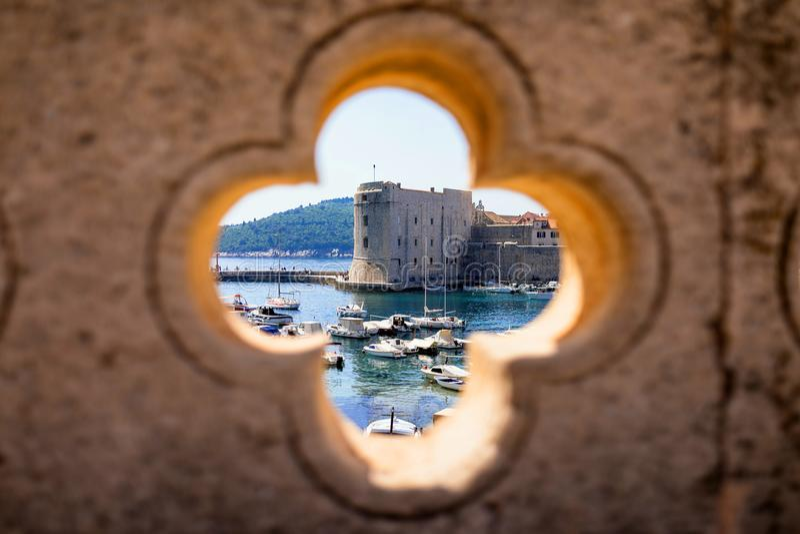 Λιμενική άποψη Dubrovnik στοκ φωτογραφία