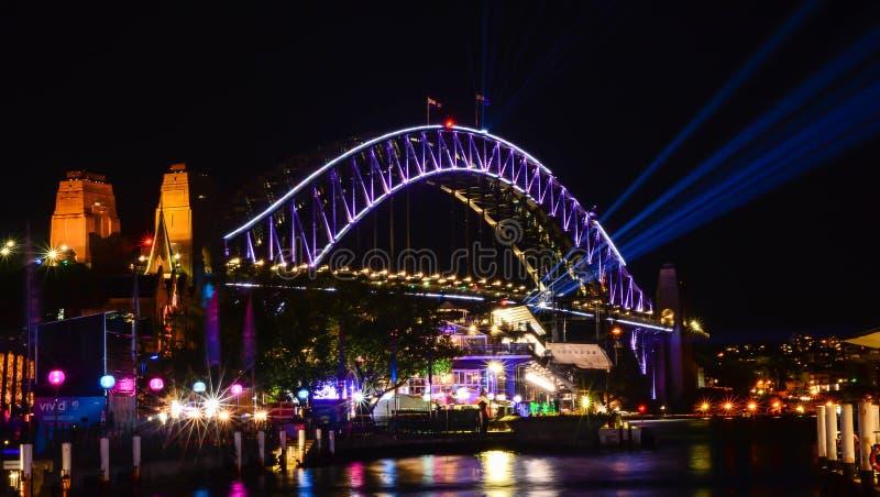 Λιμενική γέφυρα του Σίδνεϊ, Αυστραλία στοκ εικόνα