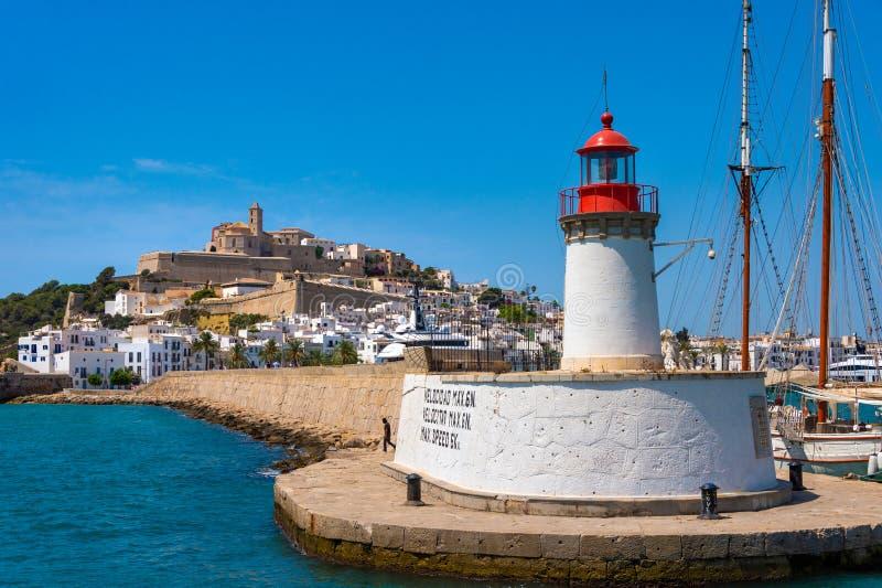 Λιμενικός φάρος Ibiza στοκ φωτογραφίες με δικαίωμα ελεύθερης χρήσης