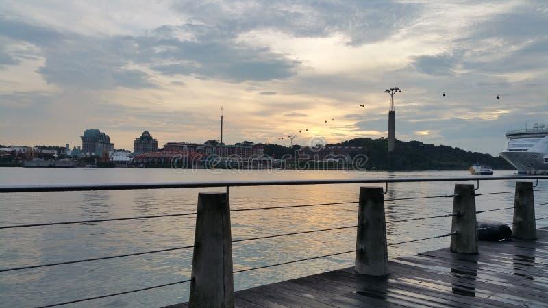 Λιμενικό μέτωπο, Σιγκαπούρη στοκ εικόνες με δικαίωμα ελεύθερης χρήσης