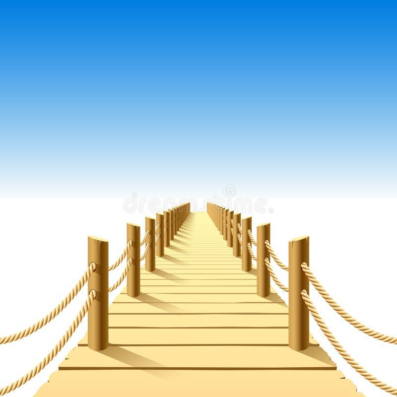 λιμενοβραχίονας ξύλινο&sigm διανυσματική απεικόνιση