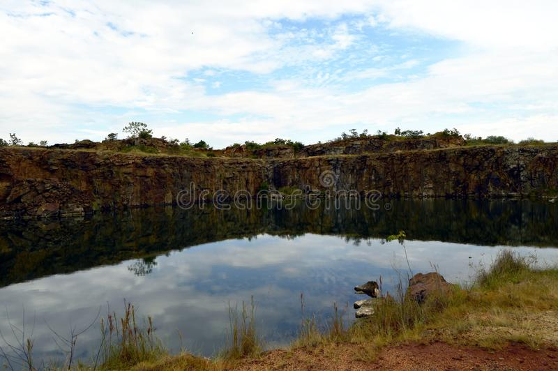 Λιμνοθάλασσα στον ελέφαντα Stone, Βενεζουέλα Υπαίθριο ταξίδι περιπέτειας στοκ φωτογραφία