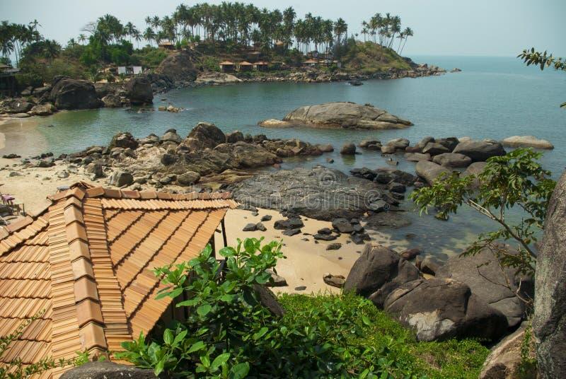 Λιμνοθάλασσα παραλιών Palolem, Goa στοκ εικόνες με δικαίωμα ελεύθερης χρήσης