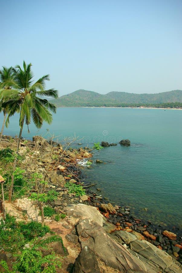 Λιμνοθάλασσα παραλιών Palolem, Goa στοκ φωτογραφία με δικαίωμα ελεύθερης χρήσης