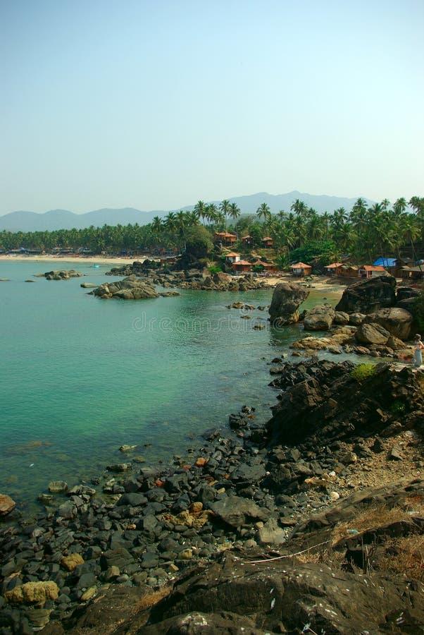 Λιμνοθάλασσα παραλιών Palolem, Goa στοκ εικόνα