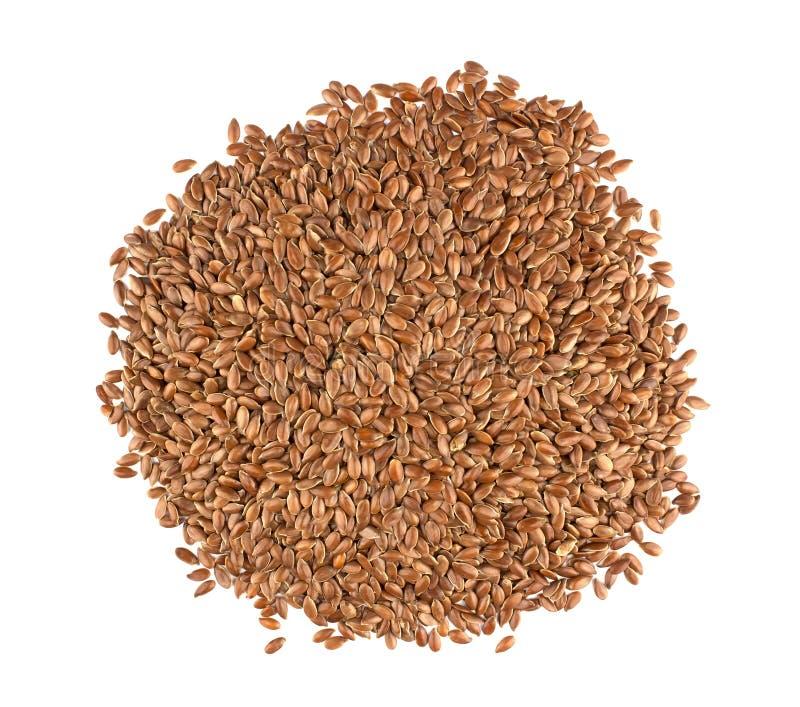 Λιναρόσπορος σε ένα άσπρο υπόβαθρο Επίσης γνωστός ως λιναρόσπορος, Flaxseed α στοκ εικόνα με δικαίωμα ελεύθερης χρήσης