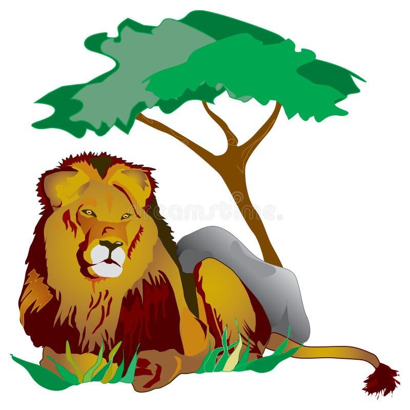 λιοντάρι βασιλιάδων ελεύθερη απεικόνιση δικαιώματος