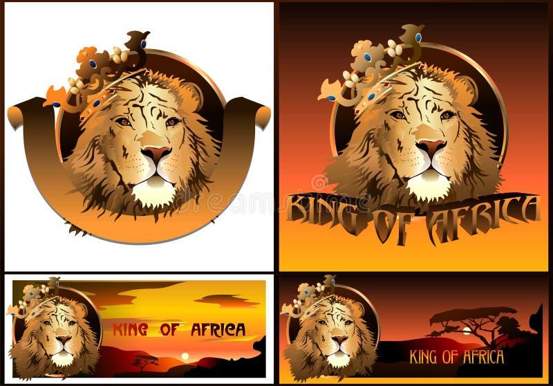 Λιοντάρι. Βασιλιάς της Αφρικής. (Διάνυσμα) απεικόνιση αποθεμάτων