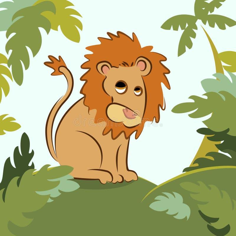 λιοντάρι ζουγκλών ελεύθερη απεικόνιση δικαιώματος