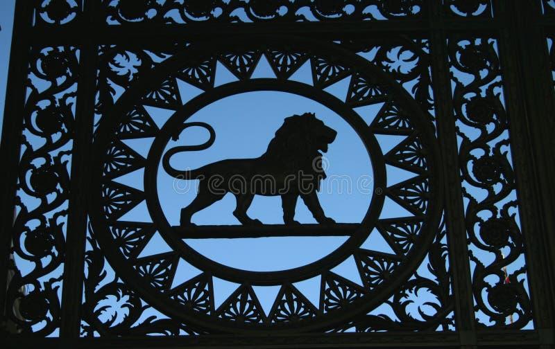 Download λιοντάρι λεπτομέρειας στοκ εικόνα. εικόνα από πύλη, βακκινίων - 55619