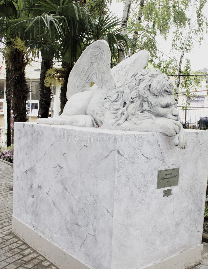 Λιοντάρι με τα φτερά στοκ φωτογραφία