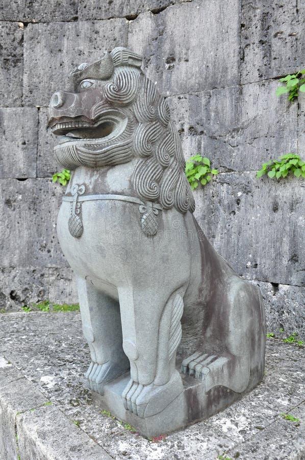 Λιοντάρι πετρών Shisa στην πύλη Kankaimon, Shurijo Castle, Οκινάουα στοκ φωτογραφίες με δικαίωμα ελεύθερης χρήσης