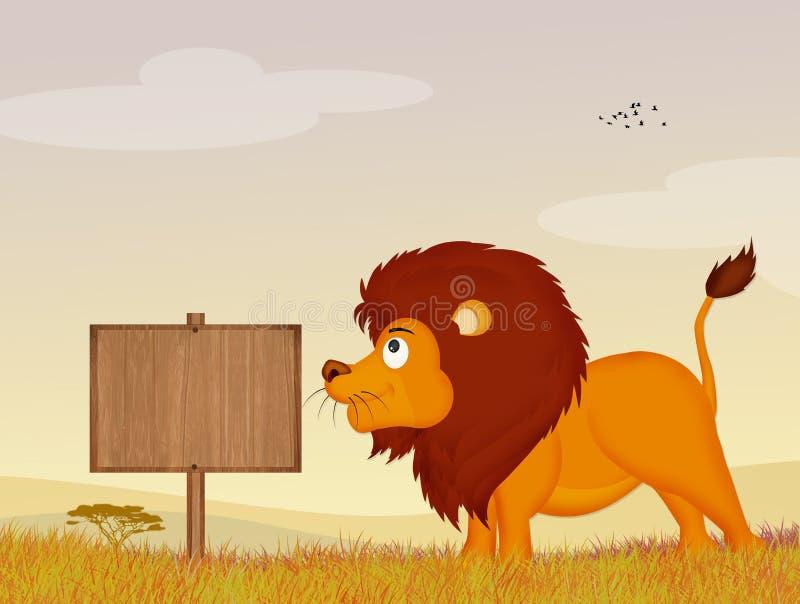 Λιοντάρι στη ζούγκλα απεικόνιση αποθεμάτων