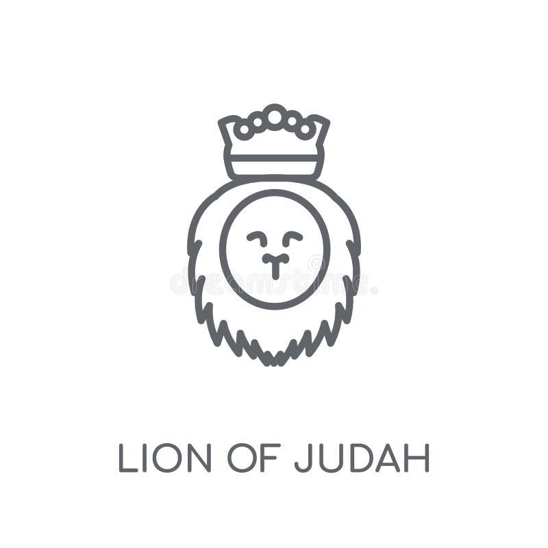Λιοντάρι του γραμμικού εικονιδίου του Judah Σύγχρονο λιοντάρι περιλήψεων του λογότυπου του Judah con ελεύθερη απεικόνιση δικαιώματος