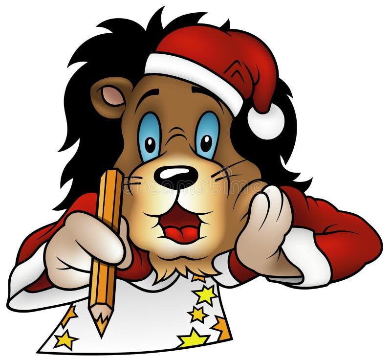 λιοντάρι Χριστουγέννων διανυσματική απεικόνιση