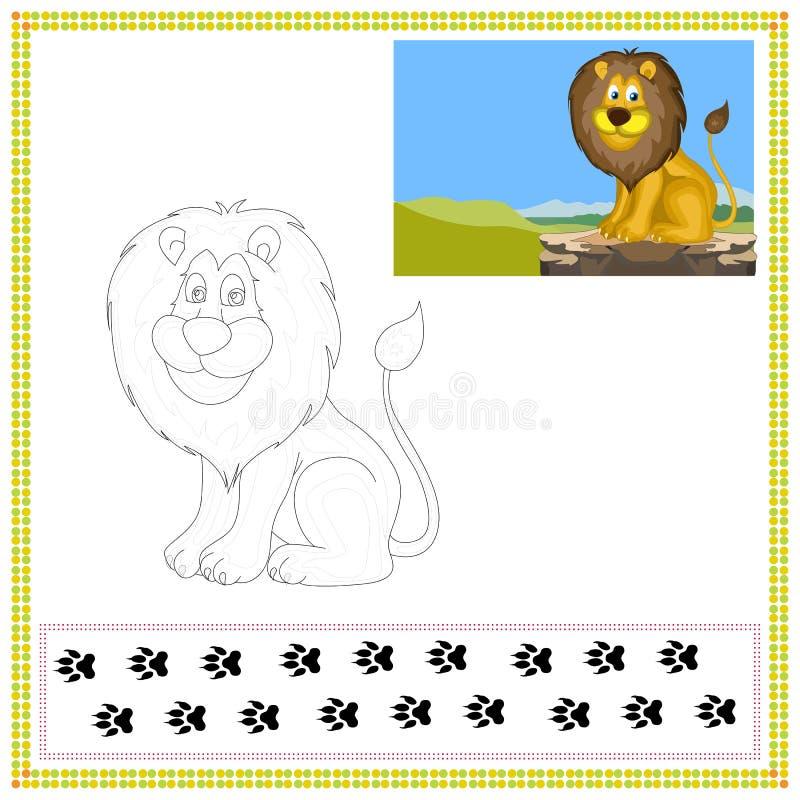 Λιοντάρι χρωματισμού διανυσματική απεικόνιση