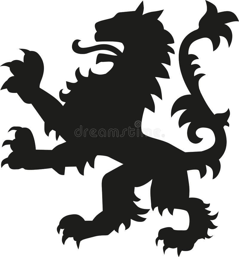 Λιοντάρι όπλων οικοσημολογίας απεικόνιση αποθεμάτων