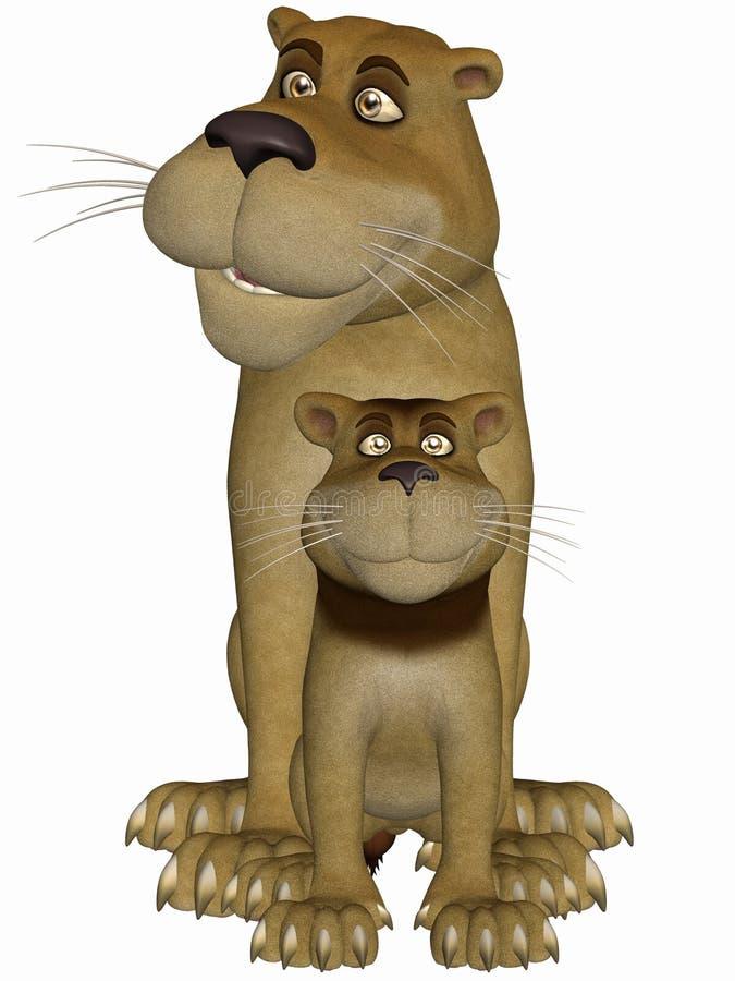 λιοντάρι Toon απεικόνιση αποθεμάτων