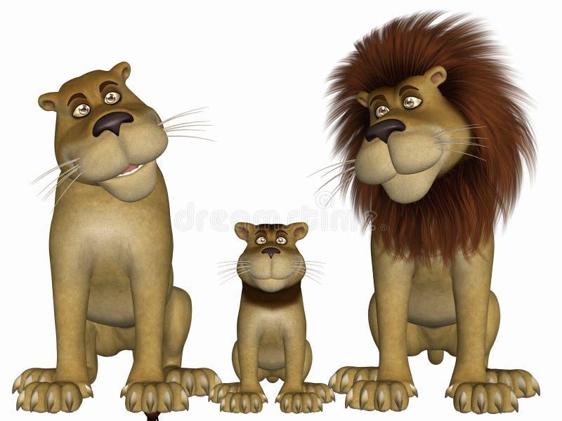 λιοντάρι Toon διανυσματική απεικόνιση