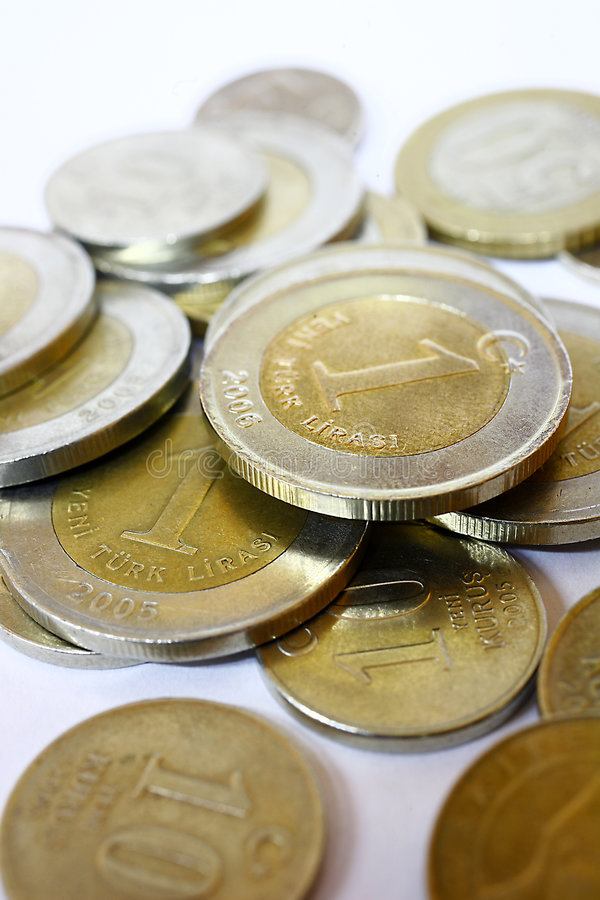 λιρέτα νομισμάτων trukish στοκ εικόνα με δικαίωμα ελεύθερης χρήσης