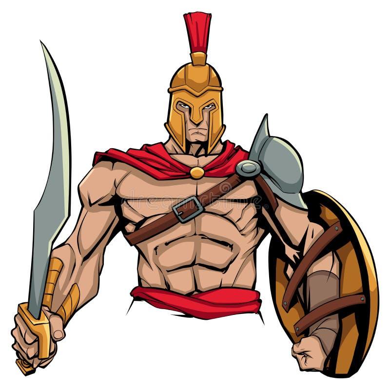 Λιτή μασκότ πολεμιστών ελεύθερη απεικόνιση δικαιώματος