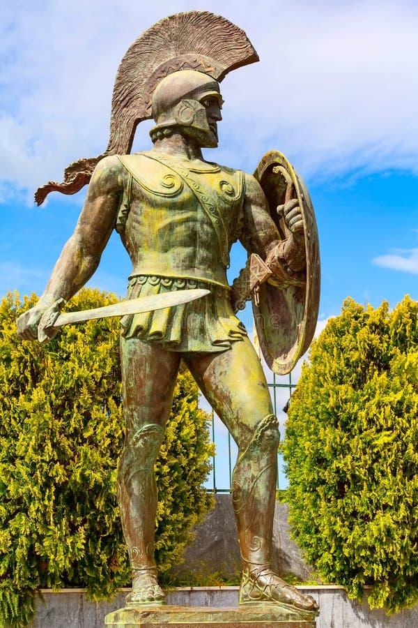 Άγαλμα του Λεωνίδας, Σπάρτη, Ελλάδα στοκ εικόνες