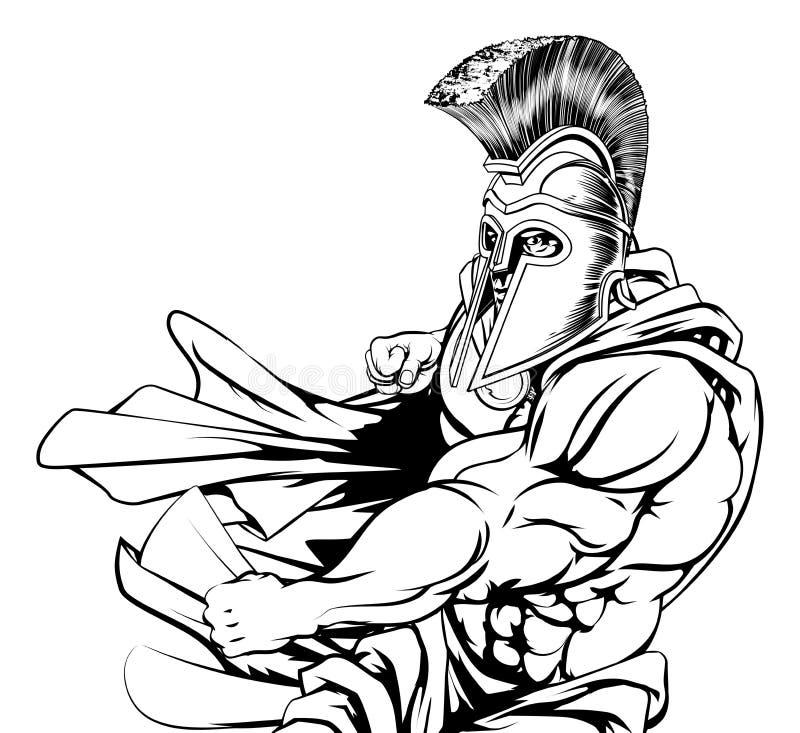 Λιτό Punching χαρακτήρα απεικόνιση αποθεμάτων