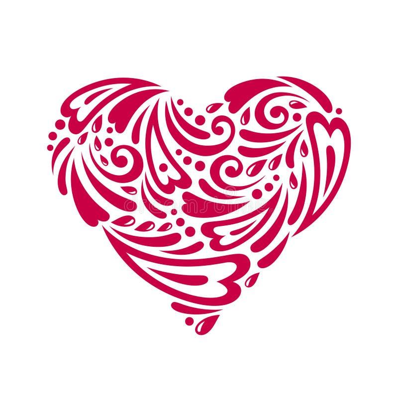 Λογαριασμένη καρδιά διανυσματική απεικόνιση