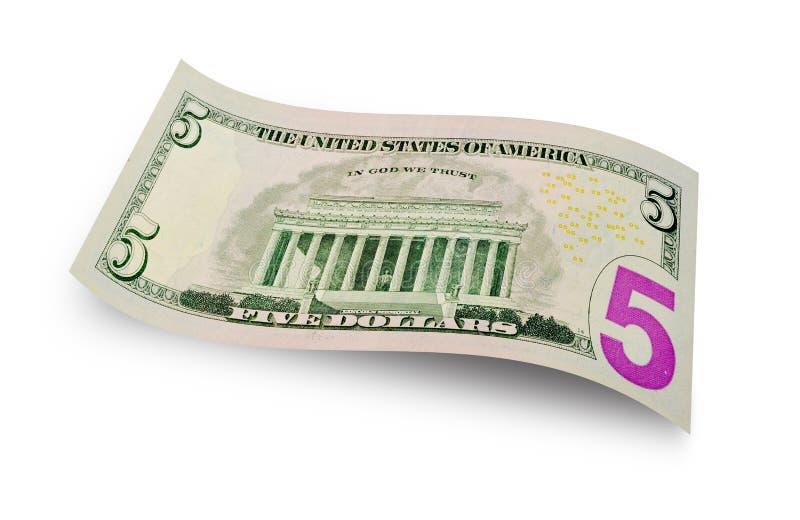 Λογαριασμός πέντε δολαρίων στοκ εικόνα με δικαίωμα ελεύθερης χρήσης