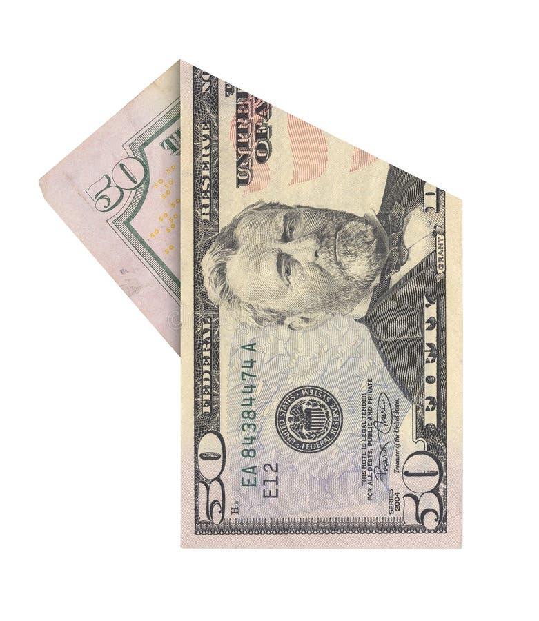 Λογαριασμός πενήντα δολαρίων στοκ εικόνα