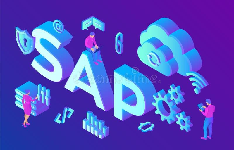 Λογισμικό αυτοματοποίησης επιχειρησιακής διαδικασίας της SAP Επιχειρηματικοί πόροι cErp που προγραμματίζουν την έννοια συστημάτων απεικόνιση αποθεμάτων