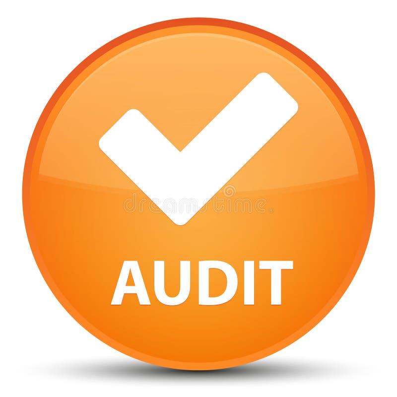 Λογιστικός έλεγχος (επικυρώστε το εικονίδιο) ειδικό πορτοκαλί στρογγυλό κουμπί ελεύθερη απεικόνιση δικαιώματος